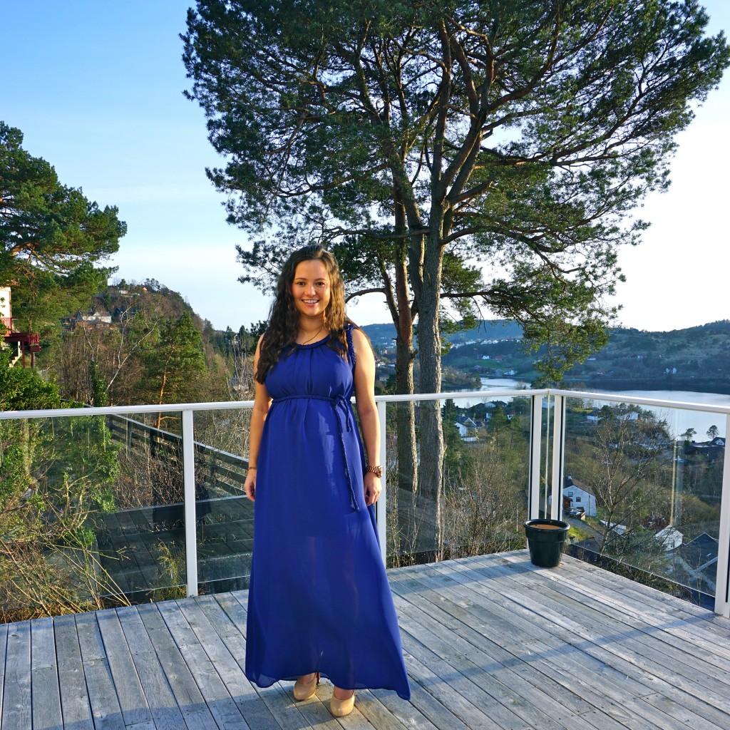 Blue Maternity Dress Mammakjole selskapskjole bergen