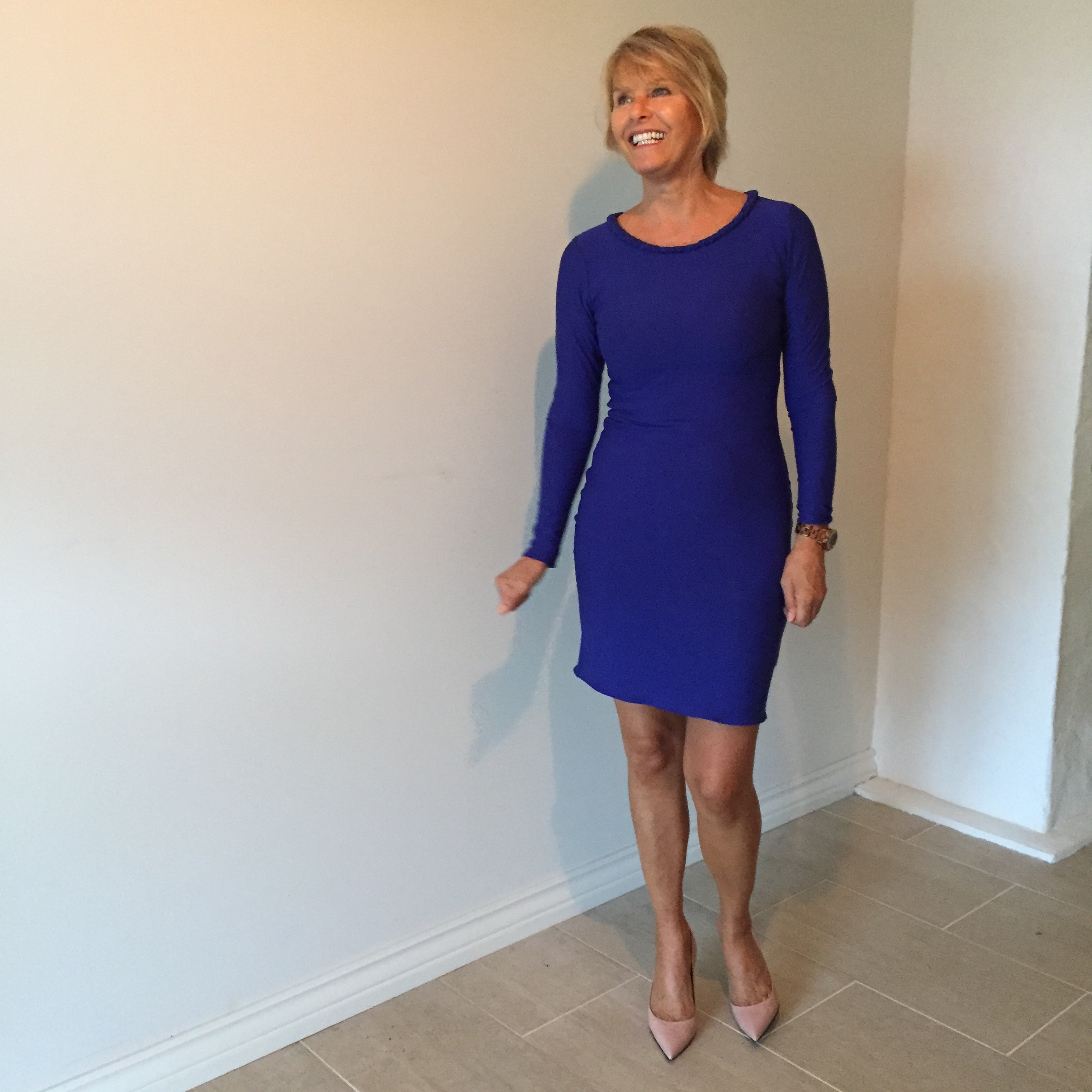 My Mom In A Blue Jersey Dress Kate Amp Harriet